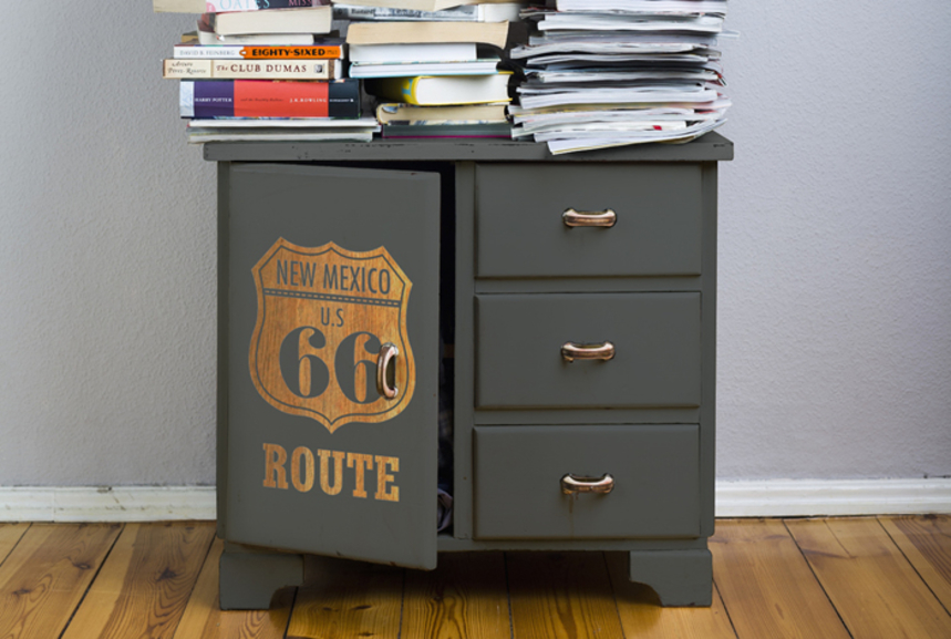 pochoir inverse route 66 apres img for filter d co id es. Black Bedroom Furniture Sets. Home Design Ideas