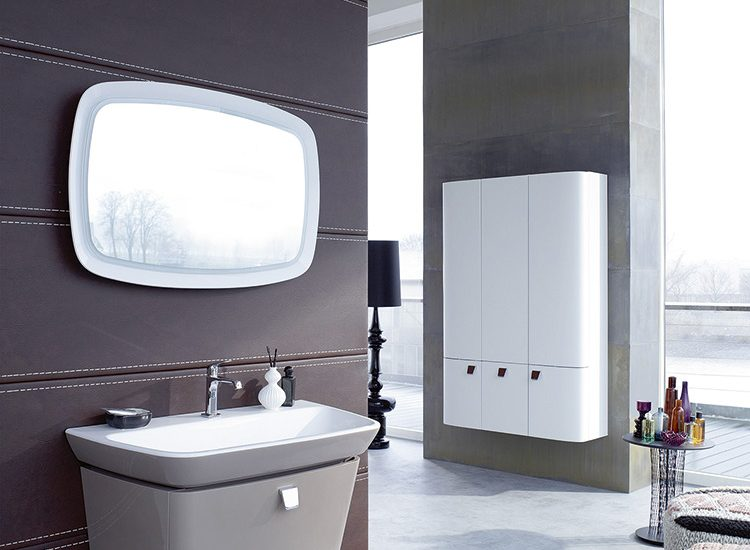 Ensemble vasque et meuble sous lavabo avec clairage led for Eclairage lavabo