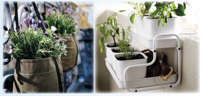 jardini res et pots suspendre pour balcon d co d co id es. Black Bedroom Furniture Sets. Home Design Ideas