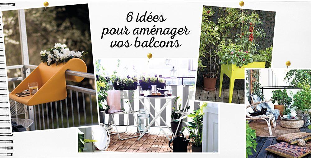 6 id es pour am nager son balcon d co id es. Black Bedroom Furniture Sets. Home Design Ideas