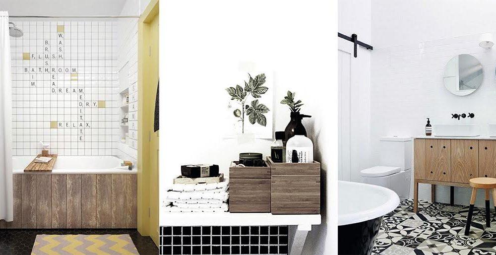 Du bois dans la salle de bain d co id es - Accessoires salle de bain bois ...