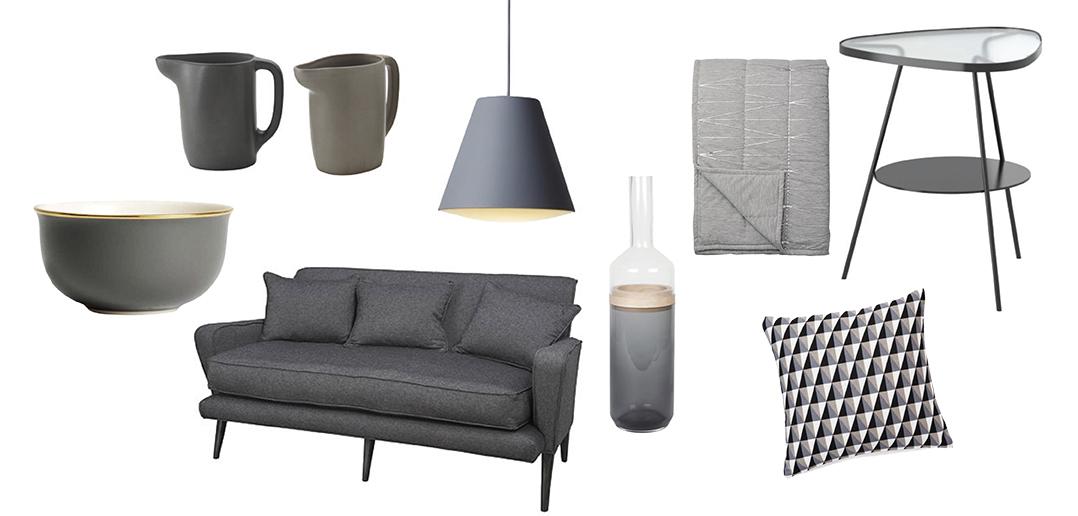 11 beaux objets gris d co id es. Black Bedroom Furniture Sets. Home Design Ideas