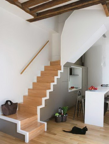 Idees rangements sous escaliers pictures to pin on pinterest - Idee de rangement sous escalier ...