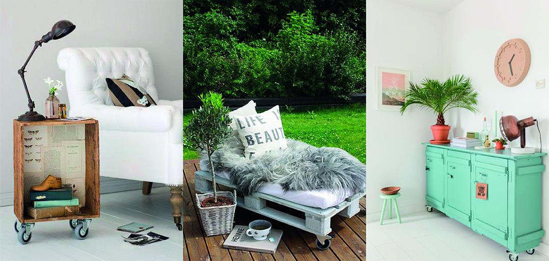 comme sur des roulettes d co id es. Black Bedroom Furniture Sets. Home Design Ideas