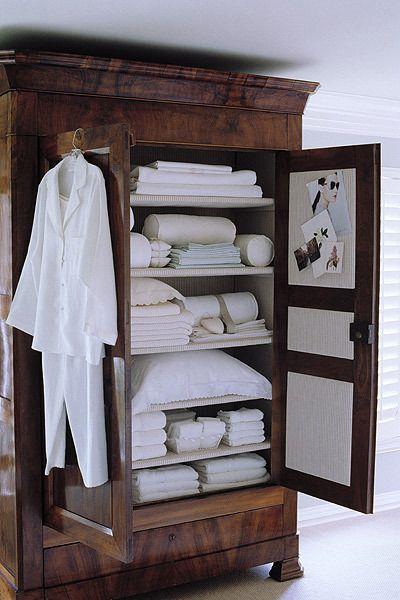 Des armoires de style 10 id es pour les mettre en valeur - Armario ropa blanca ...