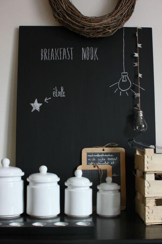 La peinture tableau noir: 13 idées à réaliser - Déco Idées
