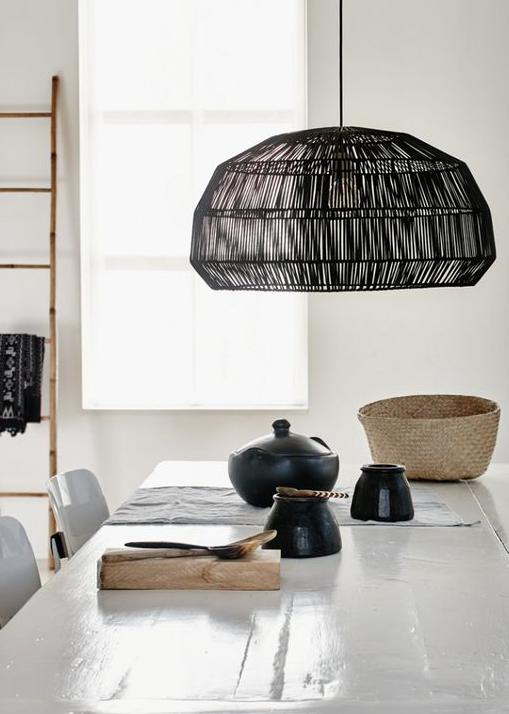 des suspensions en fibres naturelles d co id es. Black Bedroom Furniture Sets. Home Design Ideas