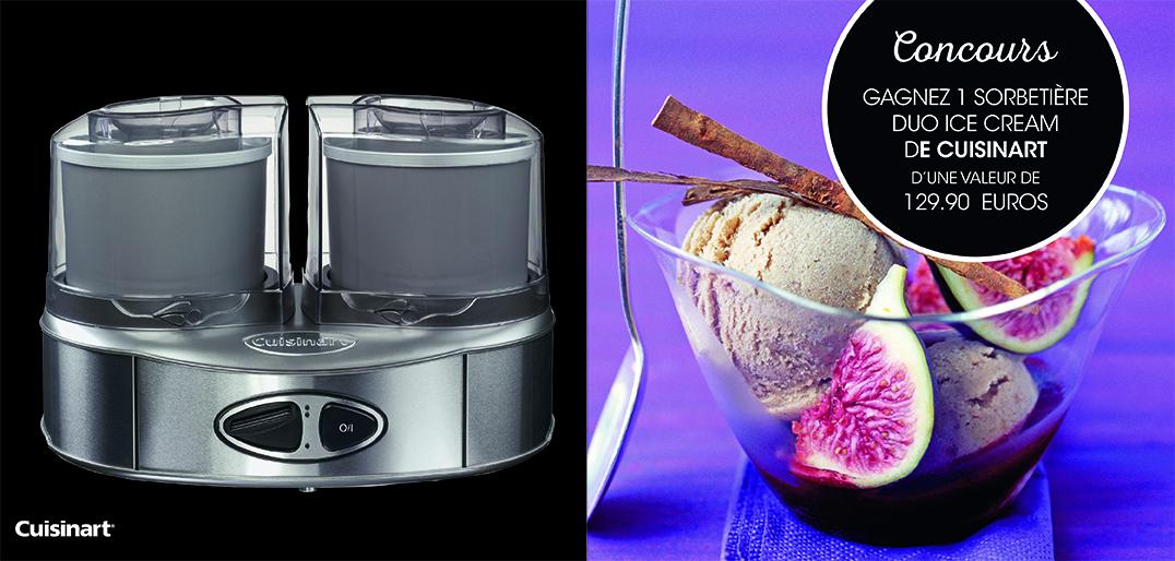Gagnez une sorbetière Duo Ice Cream de Cuisinart - Déco Idées