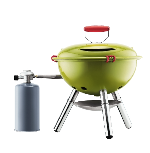 """Fyrkat"", barbecue nomade à gaz (38,2 x 38,2 x 45,5 cm), Bodum. 49,90 euros."