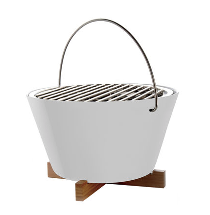 Barbecue de table en porcelaine, intox et bambou (Diam.: 30 cm), Eva Solo. 229,25 euros.