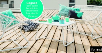 Gagnez un salon outdoor Fermob de la collection Sixties d'une valeur de 1.296 €