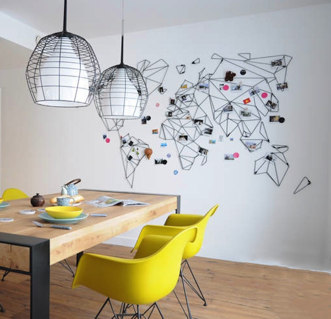 un planisph re comme d cor d co id es. Black Bedroom Furniture Sets. Home Design Ideas