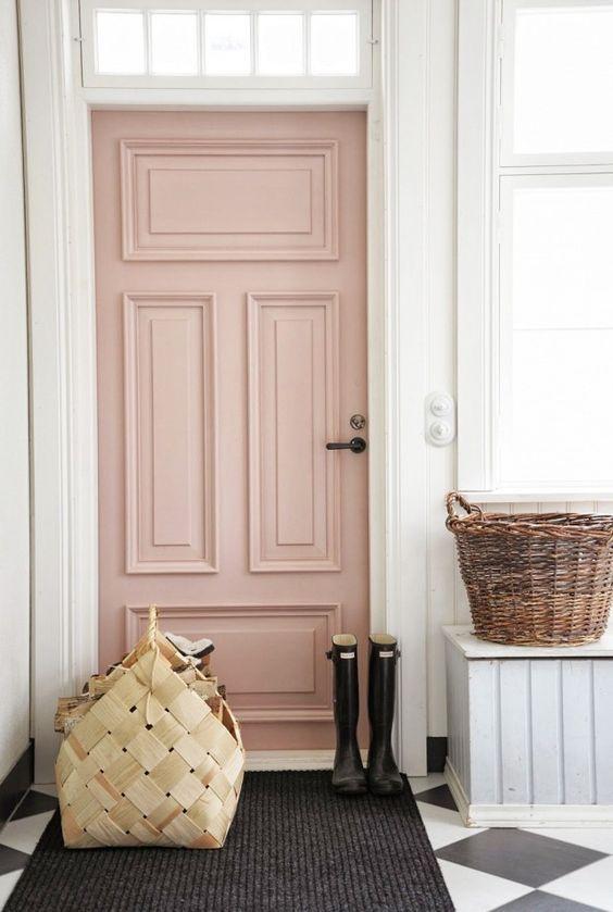 porte rose pastel