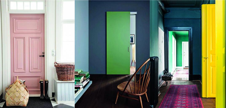 De la couleur pour les portes: des idées pour les embellir