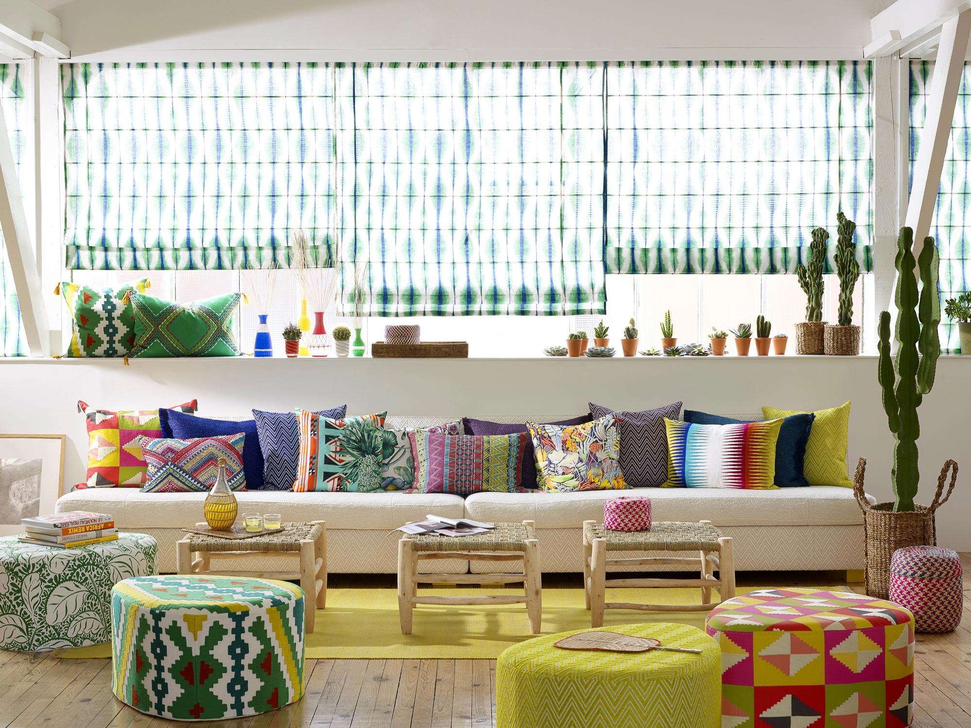 les tissus ethniques de pierre frey d co id es. Black Bedroom Furniture Sets. Home Design Ideas