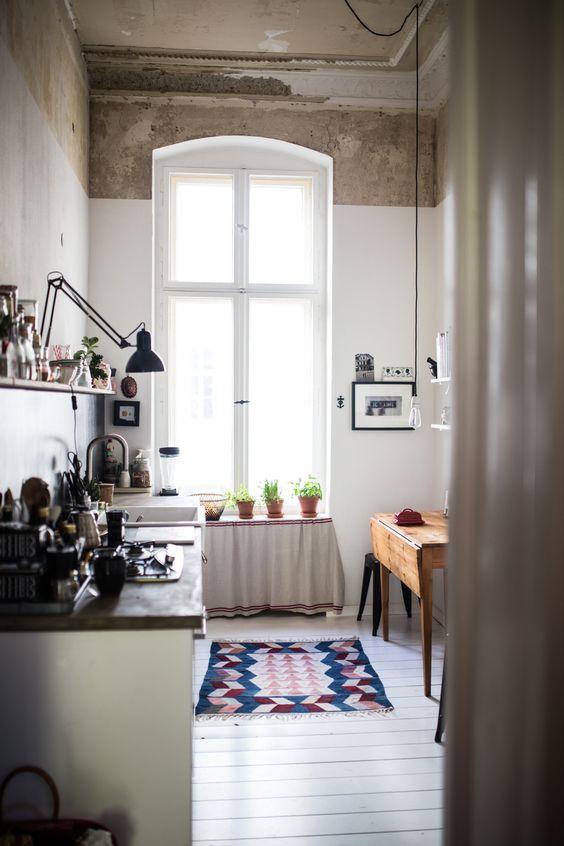 un tapis dans la cuisine effet d co garanti d co id es. Black Bedroom Furniture Sets. Home Design Ideas