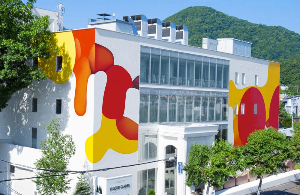 Guillaume Bottazzi réalise un tableau géant sur la place Jourdan