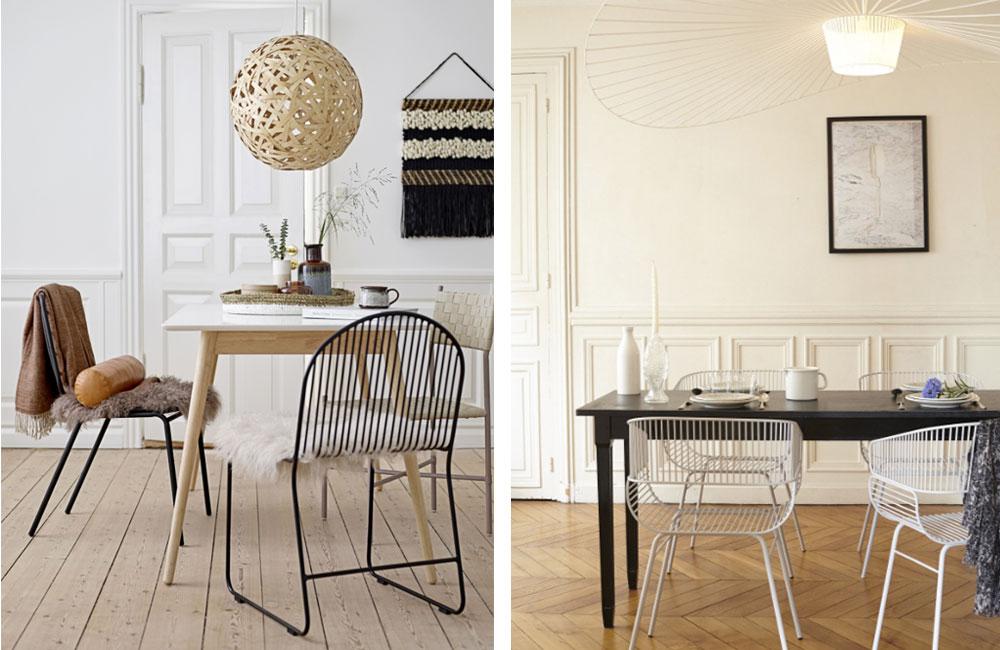 Les chaises en métal