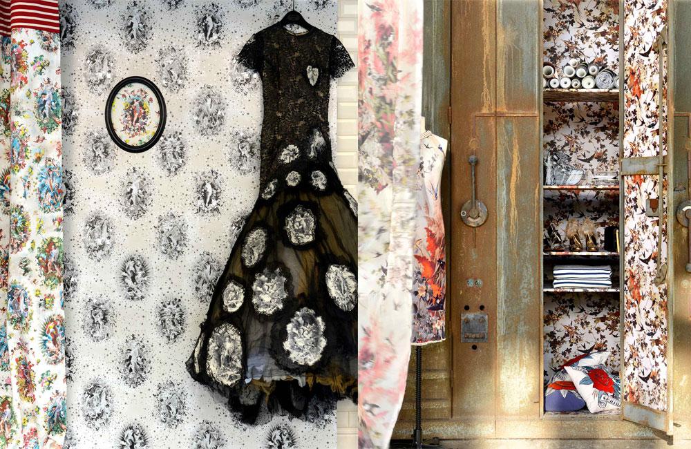 leli vre et jean paul gaultier une histoire de papiers peints d co id es. Black Bedroom Furniture Sets. Home Design Ideas