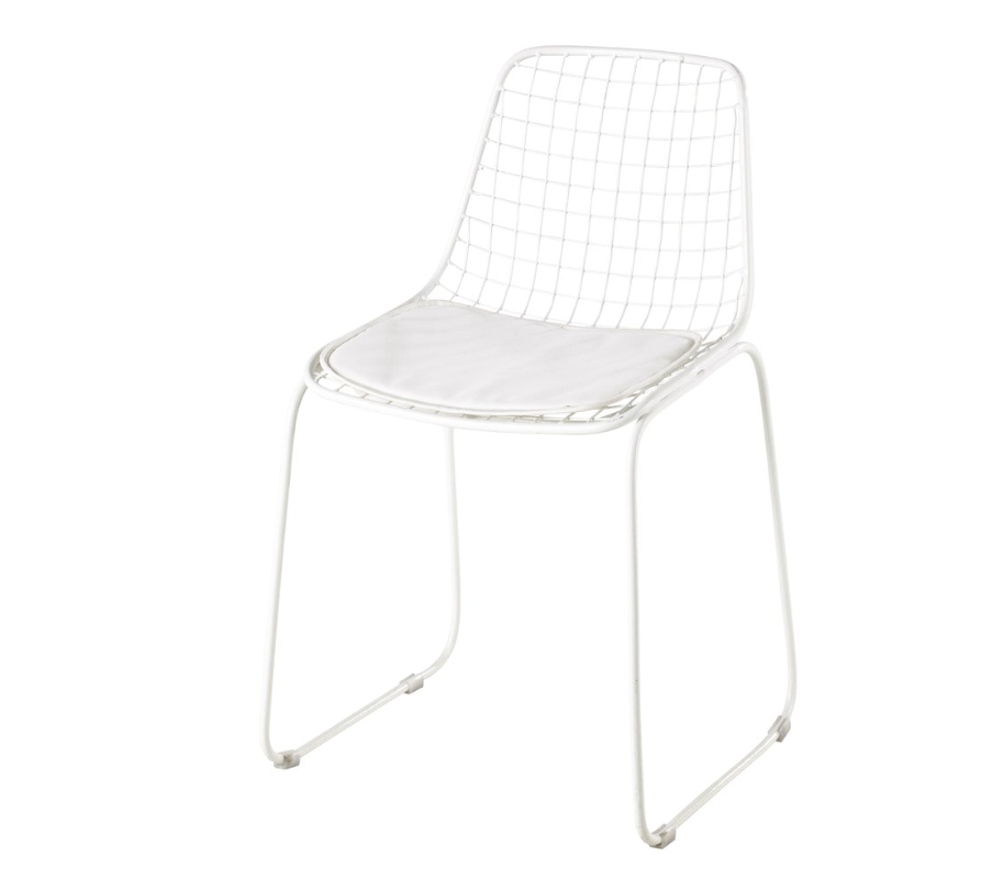 Chaise metal maison du monde simple chaise de jardin en for Chaise norvegienne