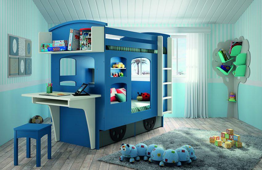 Un lit wagon aux multiples fonctions