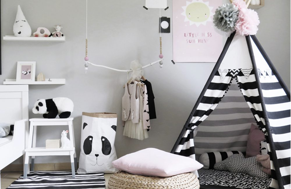 pinterest 12 chambres d 39 enfants en noir et blanc d co id es. Black Bedroom Furniture Sets. Home Design Ideas