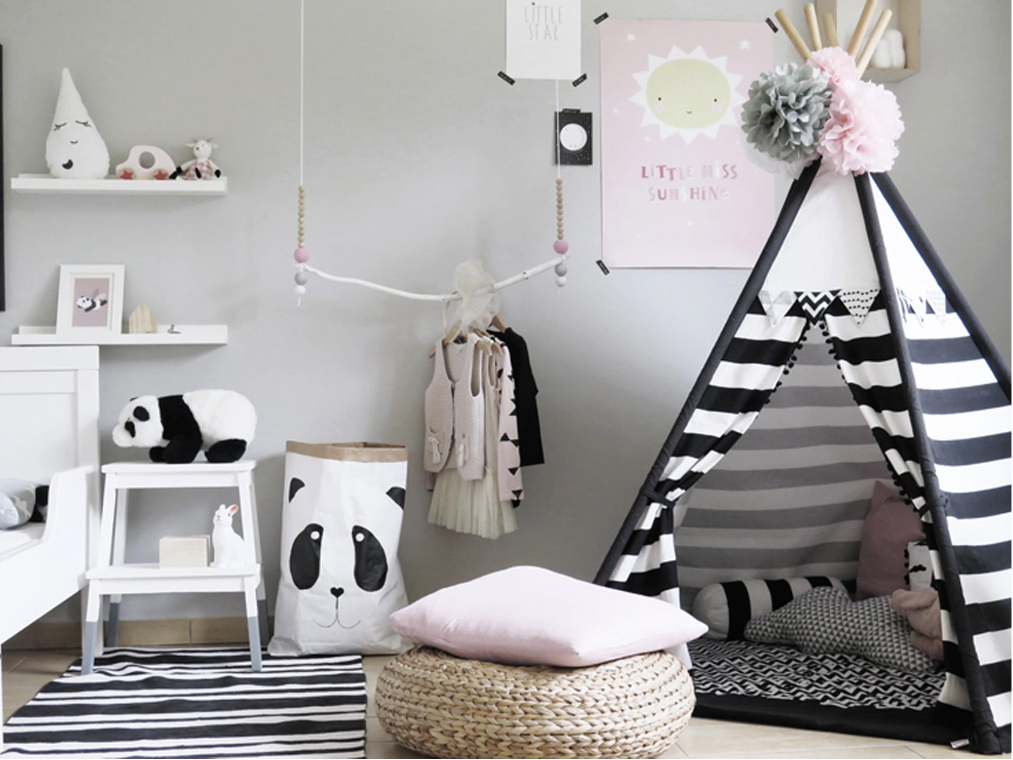 Pinterest 12 chambres d 39 enfants en noir et blanc d co id es - Chambre enfant noir et blanc ...