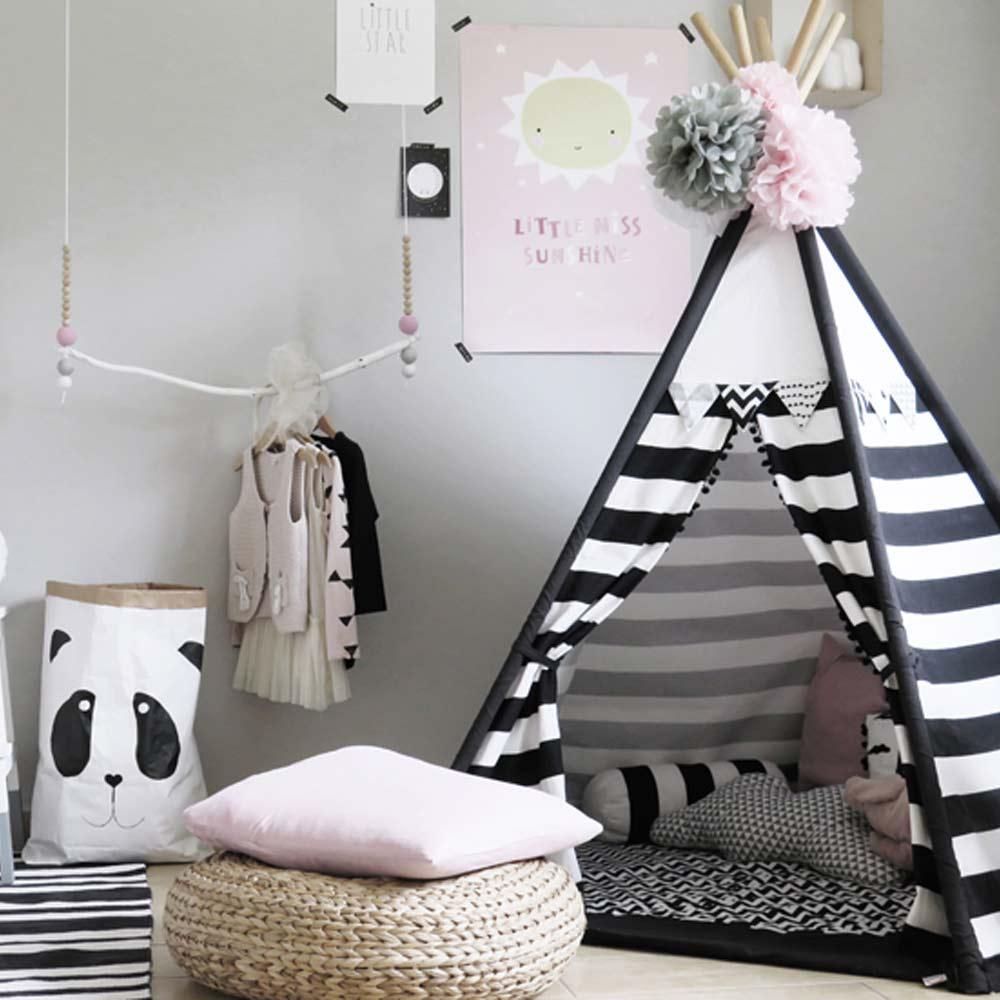 Idee Deco Cuisine Noir Et Blanc pinterest : 12 chambres d'enfants en noir et blanc - déco idées