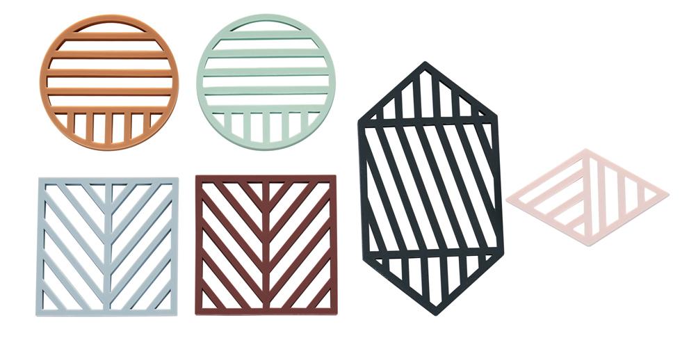 Sous-plats géométriques, à partir de 20 euros le set de 2.