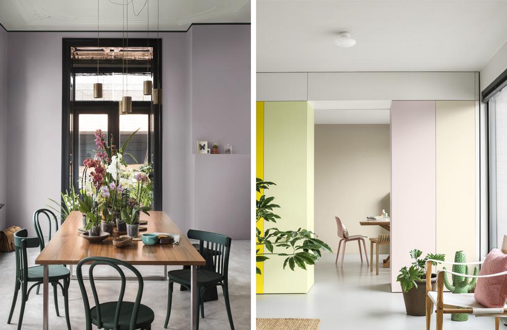 Des espaces qui mixent les couleurs