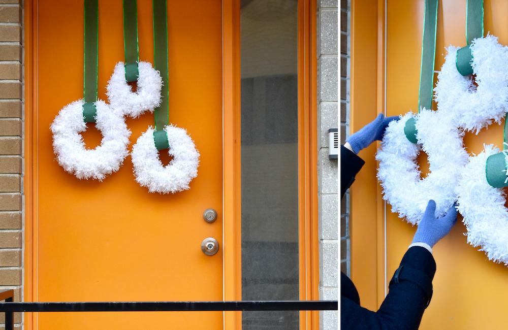 DIY : une couronne fluffy pour Noël