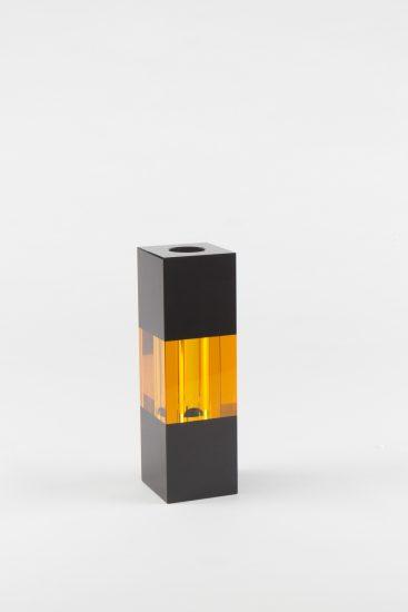 Vase cristal noir & ambre