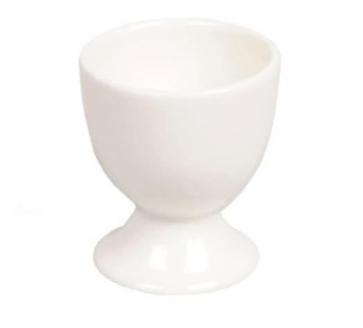 Coquetier blanc en porcelaine