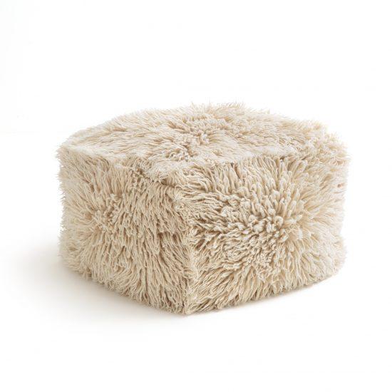 Pouf en laine Carito