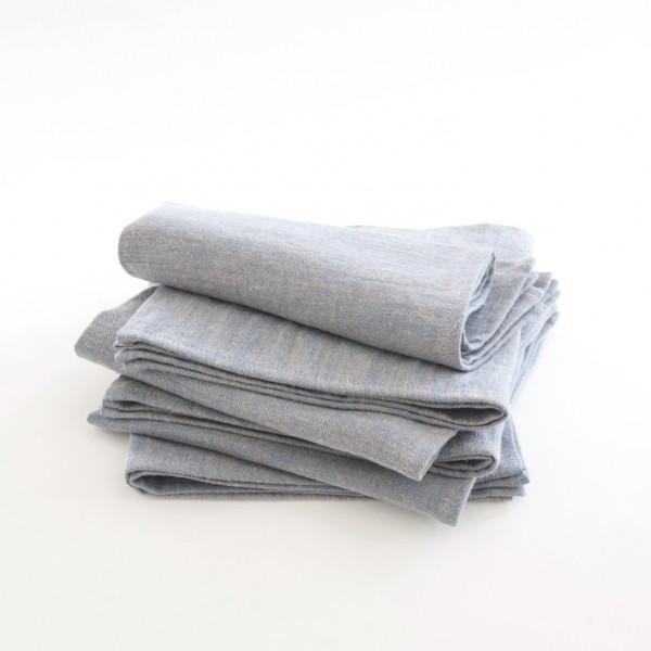 Serviette en lin délavé lavande (45 x 45 cm), Landmade, 11,90€