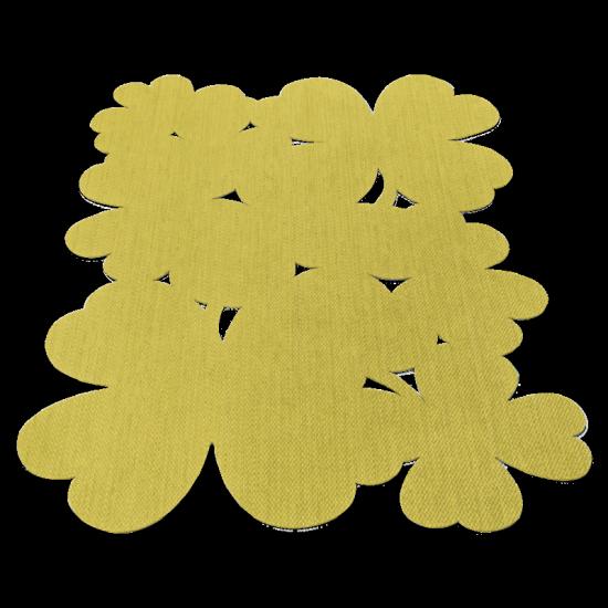 Tapis 'Trèfle' pineapple en PVC