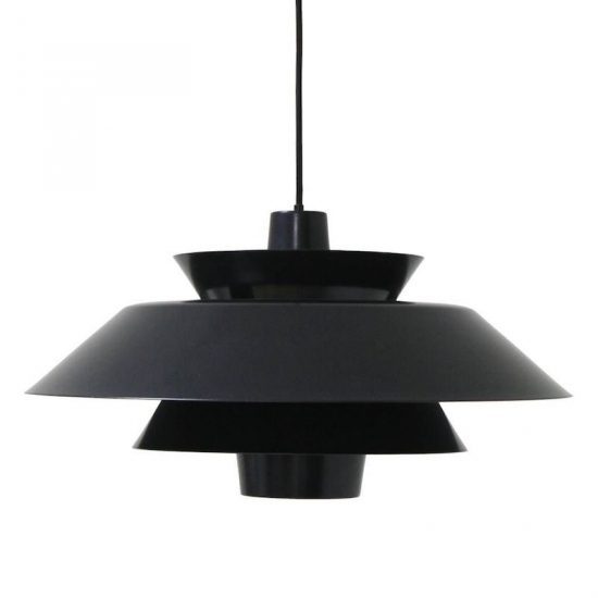 Suspension 'Lounge' en métal noir (D50, H26 cm), HK Living, 199€