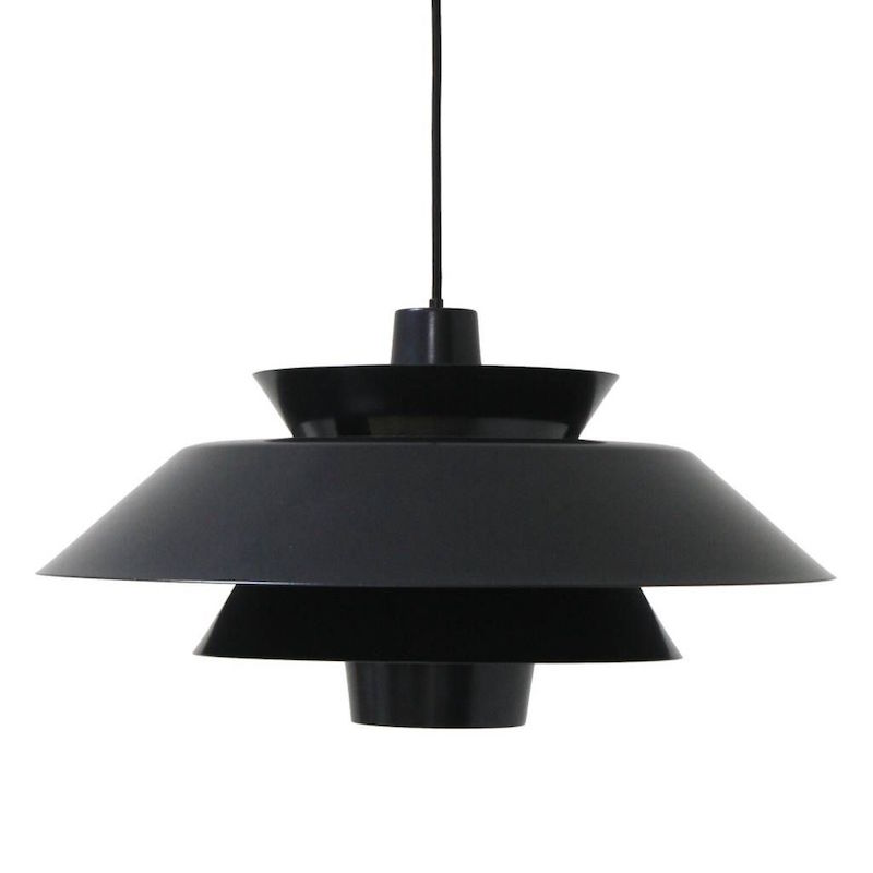 Suspension 'Lounge' en métal noir (D50, H26 cm), HK Living, 199€