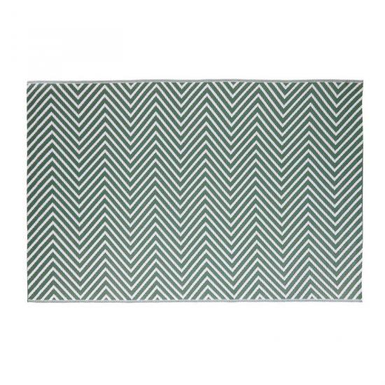 Tapis 'Zesti' en polypropylène vert et blanc