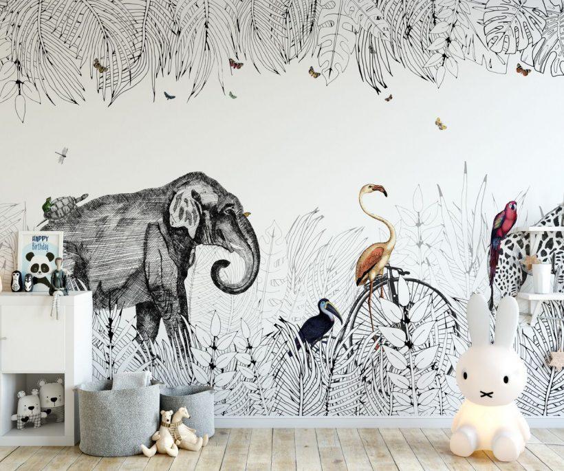 Où trouver du joli papier peint pour une chambre d'enfant ?
