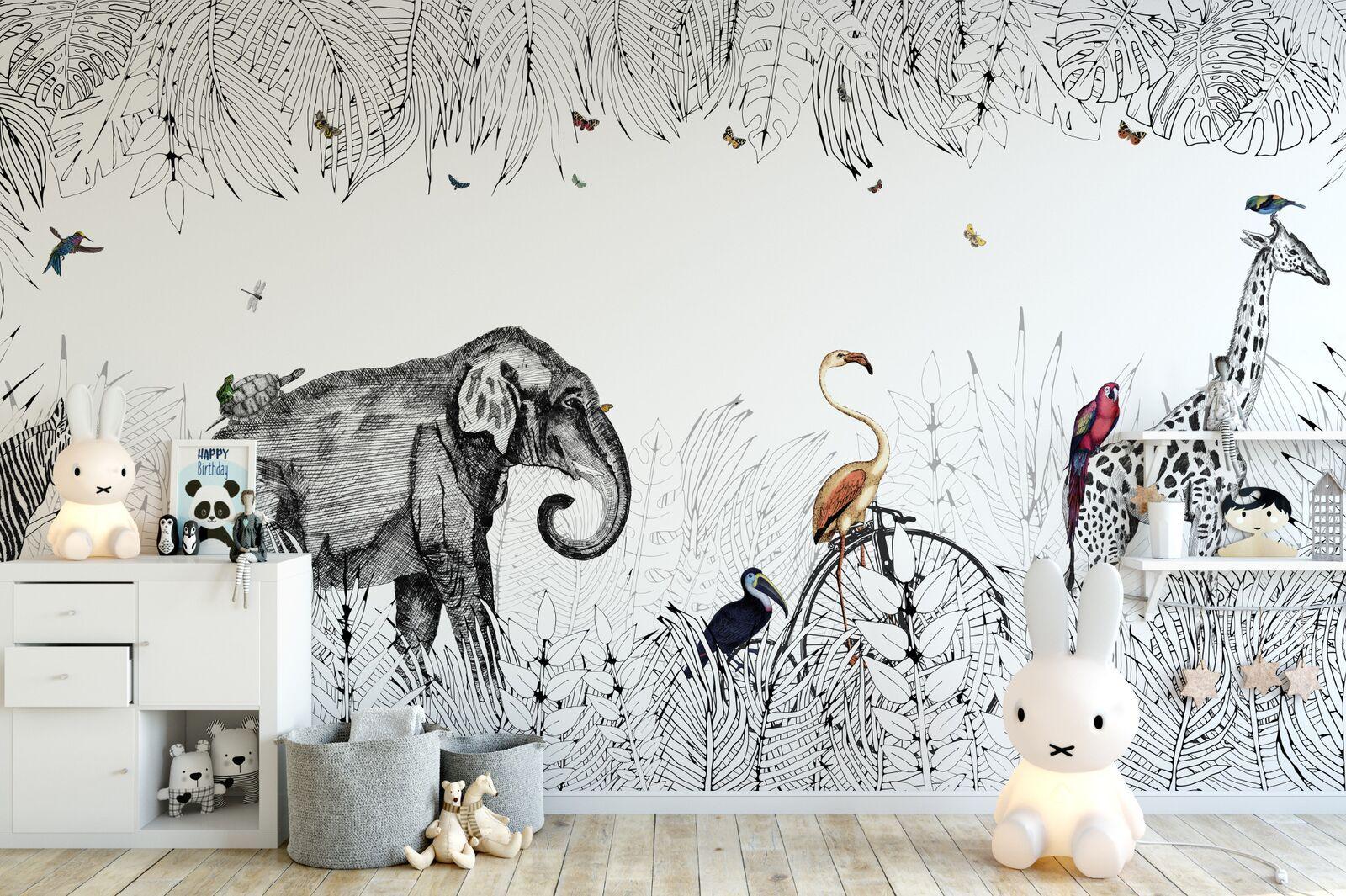 Papier Peint Noir Et Blanc Graphique papier peint : notre sélection pour une chambre d'enfant