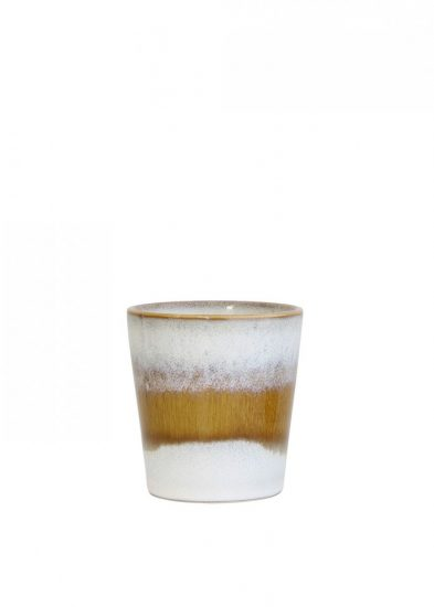 Mug '70s snow' marron en céramique,