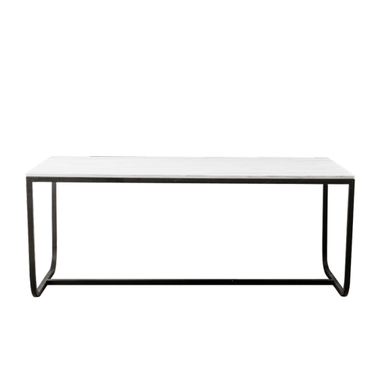 Table 'Grace' en marbre blanc