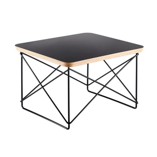 Table 'Occasional table LTR' plateau de table laminé et support en fil d'acier