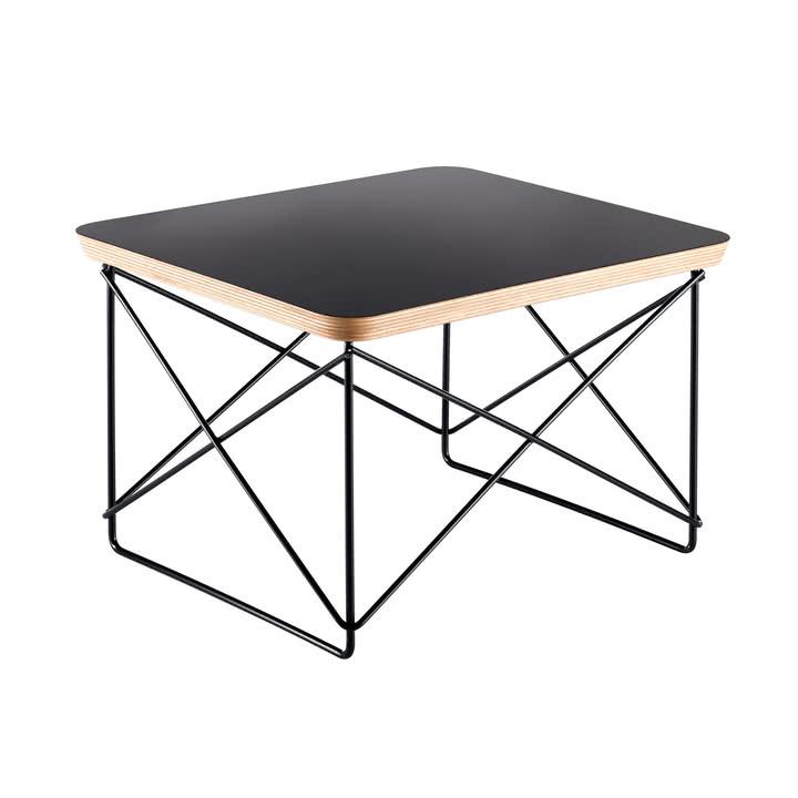 Table 'Occasional table LTR' plateau de table laminé et support en fil d'acier