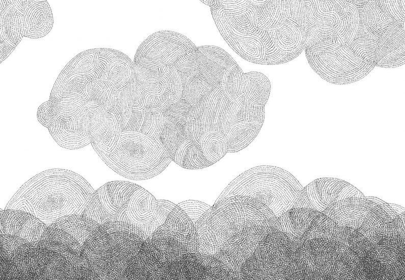 Papier-peint 'Cloudy'