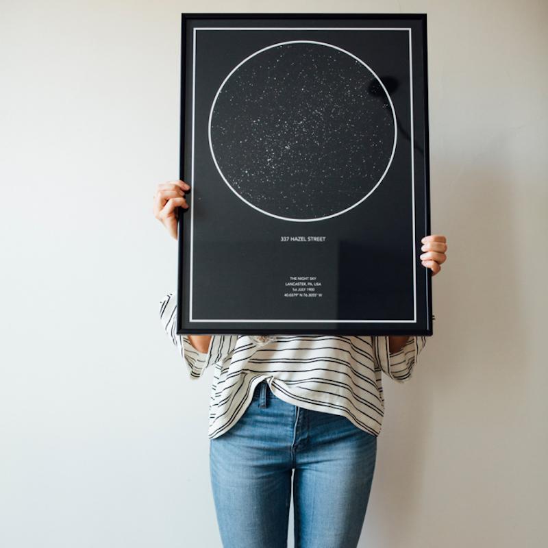 Carte des étoiles à personnaliser