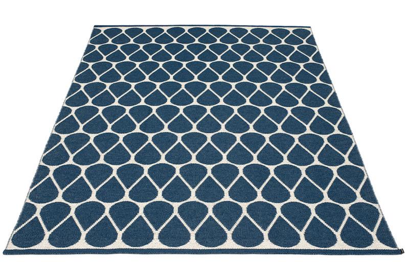 Tapis 'Otis ocean blue' en PVC