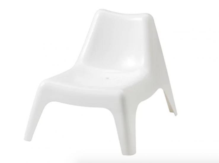 Transat enfant 'Bunsö' en polypropylène blanc