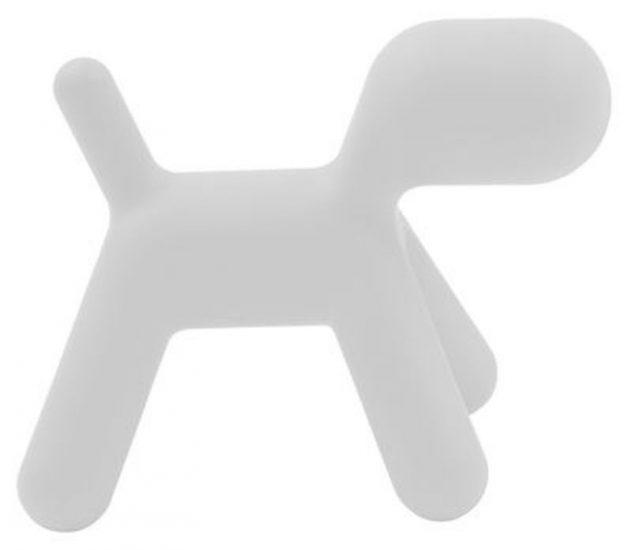Chaise enfant 'Puppy Extra Large' en polyéthylène blanc